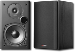 Polk Audio T15 100 Watt Home Theater Bookshelf Speakers (Pair), Dolby and DTS Surround- Retail:$174.56