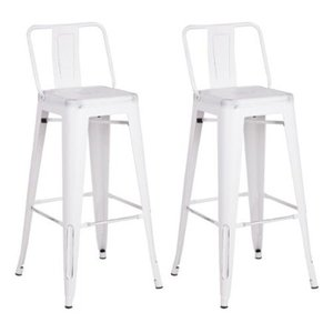 Metal Industrial 24-inch Bar Stool (Set of 2)- Retail:$93.49