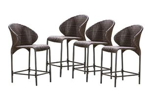 Oyster Bay Outdoor Wicker Counter Stool Brown (Set Of 4)