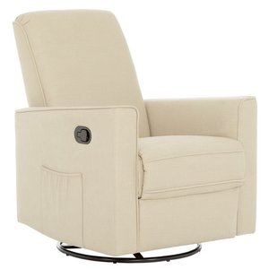 Evolur Raleigh Glider Recliner, Fawn