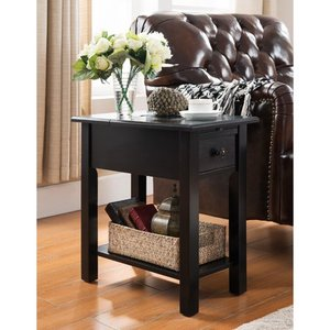 Copper Grove Ballingall Black Side Table with Charging Station Retail:$139.99