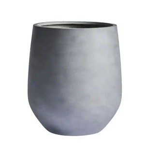 DreamPatio La Mirada 1-Piece Fiberstone Tappered Planter - 11x11x12 - Silver