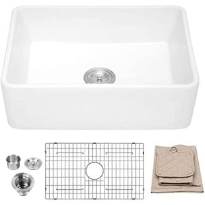 Ordear 30 Inch Fireclay Farmhouse Single Bowl Kitchen Sink