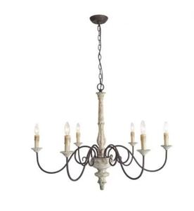 "The Gray Barn French Country Distressed White Candle Chandelier For Dining Room - D37"" x H28""- Retail:$441.49"