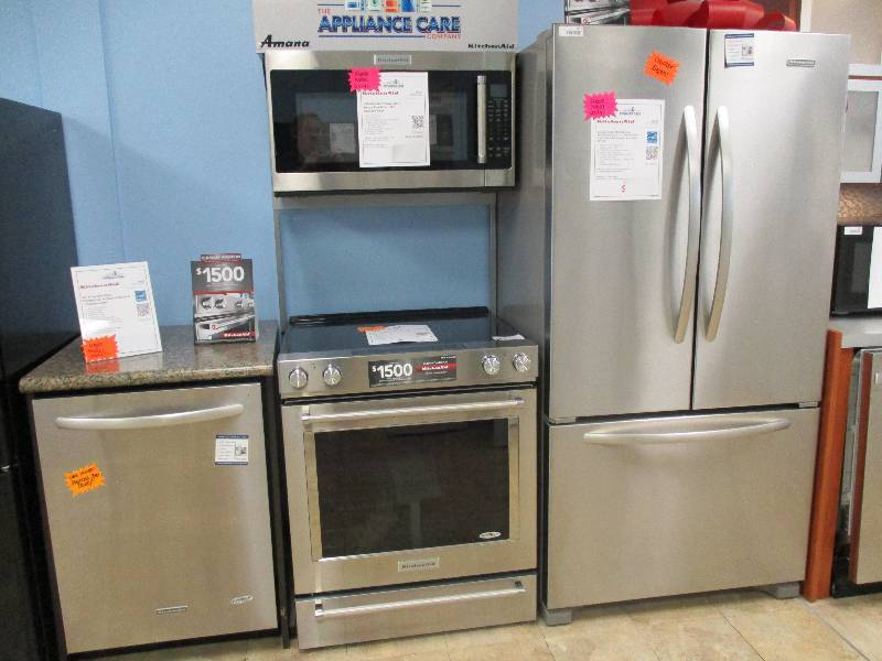 Brand new kitchenaid complete kitchen package stainless for Complete new kitchen