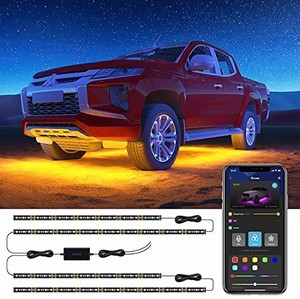 Govee Exterior Car Lights with App Control, 2 Lines Design Under LED Lights for Car
