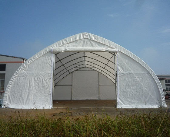 Steel Outdoor Shelters : New high ceiling oz pe steel frame fabric