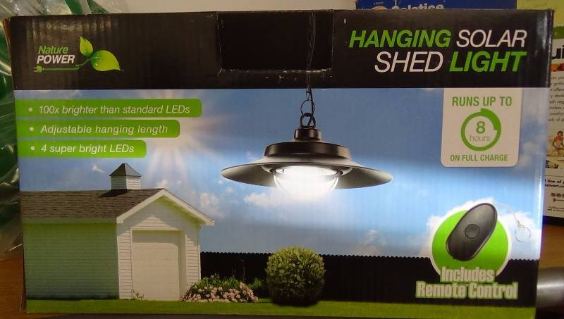 Nature Power Hanging Solar Powered Led Shed Light With