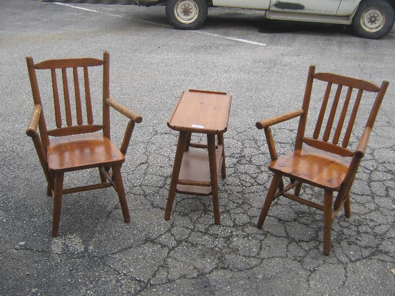 Genial 2 Handmade Chairs And Side Table Habitant Bay City, Michigan | For Sale  Furniture, Auto, Tools, Business And Industrial, Name Your Price | Equip Bid