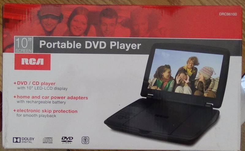 RCA DRC96100 10-Inch Portable DVD Player with Rechargeable ...