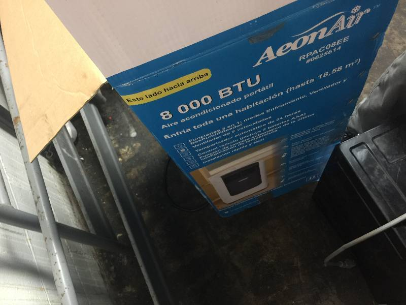 Aeonair 8 000 Btu 200 Sq Ft 115 Volt Portable Air