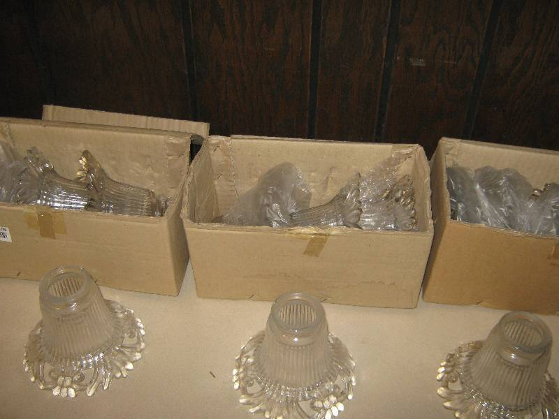 16 Ct Lot Glass Shades For Light Fixtures Gladstone