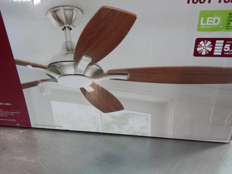 Home decorators collection 52 petersford led indoor ceiling fan large lighting auction led Home decorators petersford fan