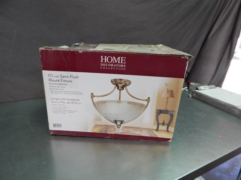 Home decorators collection semi flush mount fixture large lighting auction led lighting Home decorators collection 4 light chrome flush mount