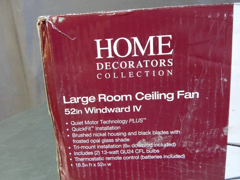 Home decorators collection 52 windward iv led ceiling fan Home decorators windward iv
