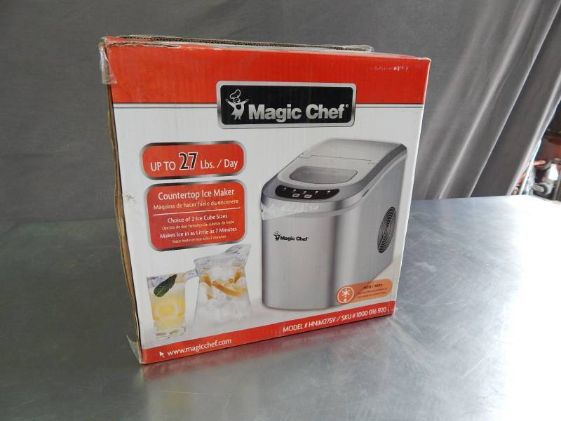 Magic Chef Countertop Ice Maker Directions : Magic Chef Countertop Ice Maker Huge Auction Of Portable A/C Fans ...