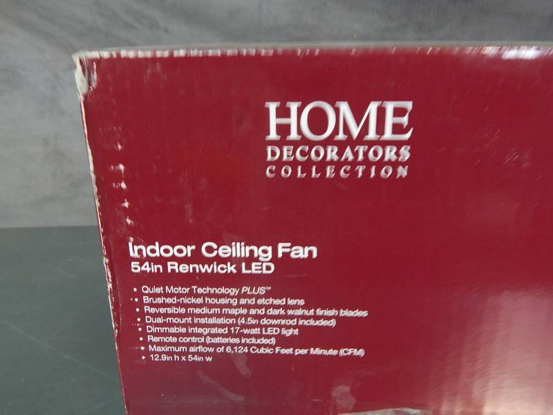 home decorators collection renwick home decorators collection 54 quot renwick led ceiling fan 11467