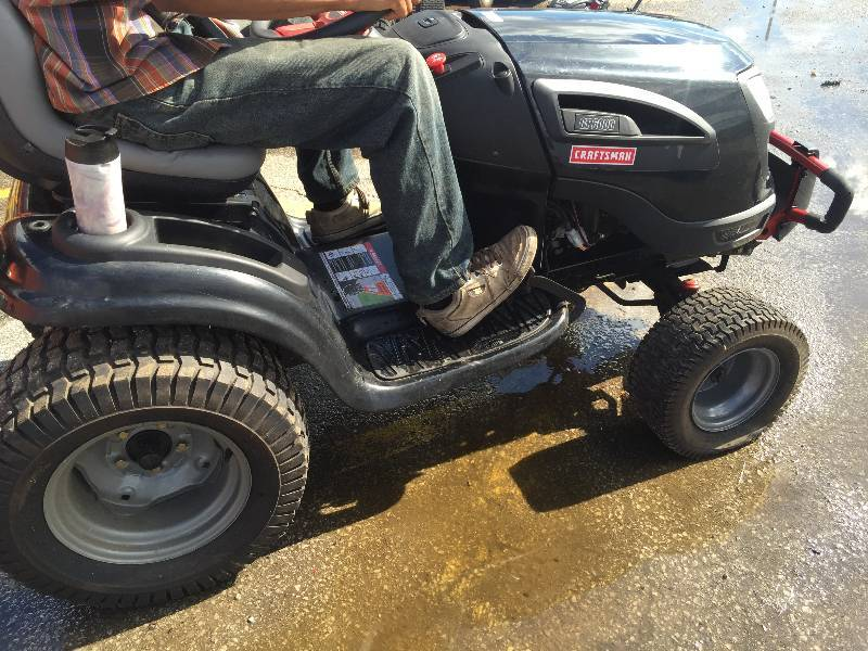 Craftsman Hydrostatic Transmission Tractor : Craftsman gt quot hp kohler v twin turn tight