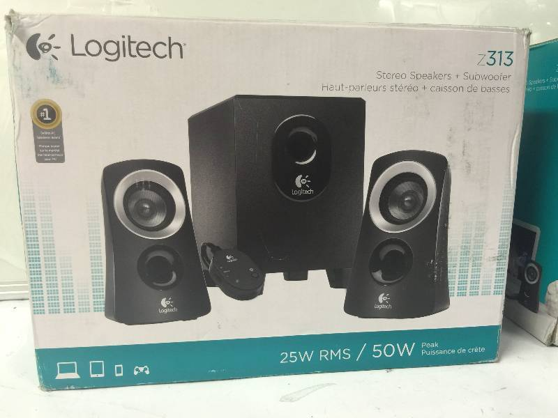logitech z313 sound system em auction sale laptops audio equipment tools hardware. Black Bedroom Furniture Sets. Home Design Ideas