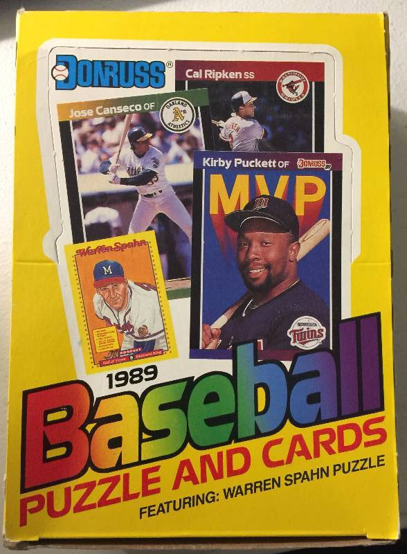 Factory Sealed 1989 Donruss 36 Pack Wax Box With Possible