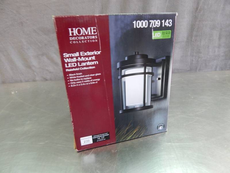 Home decorators collection small exterior wall mount led lantern