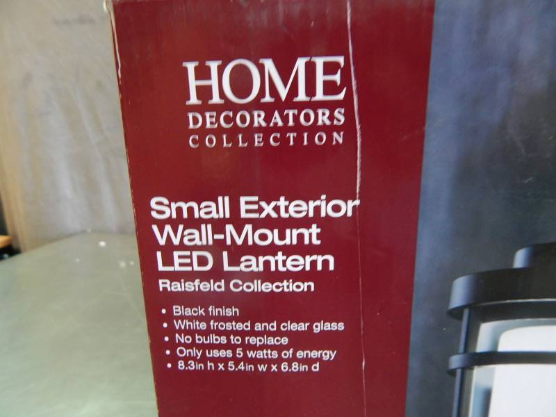 Home Decorators Collection Small Exterior Wall Mount Led Lantern Tuesday Night Special Auction