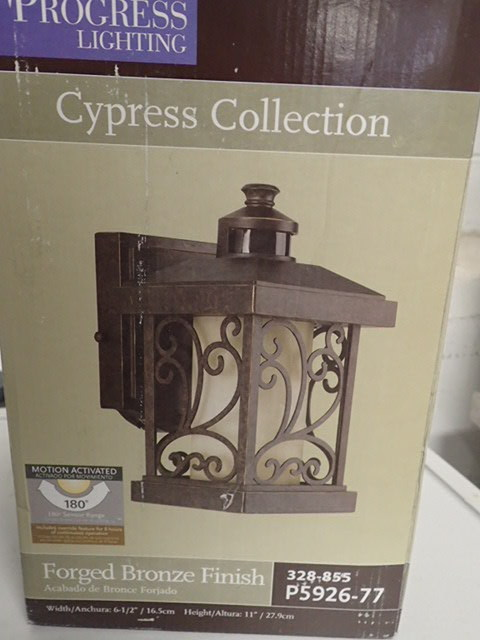 home decorators collection cypress progress lighting cypress collection 1 light forged bronze 11421