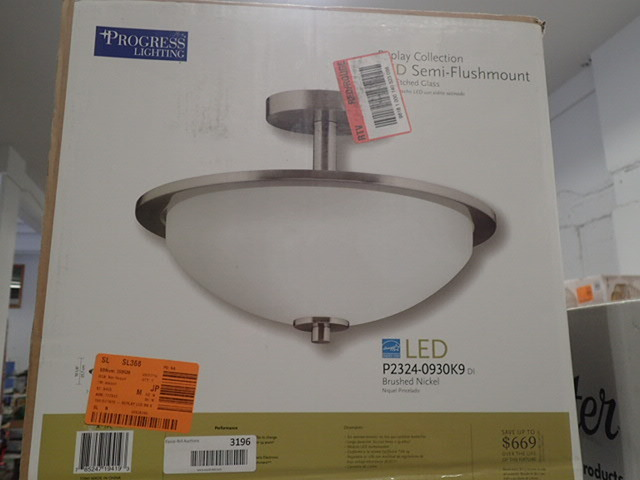 Progress Lighting Replay Collection 1 Light Brushed Nickel Led Semi Flush Mount Light Home