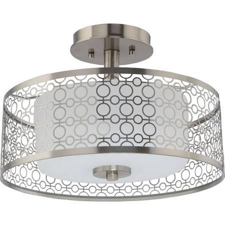 Home Decorators Collection 1 Light Brushed Nickel Led Semi Flush Mount Light Home Improvement