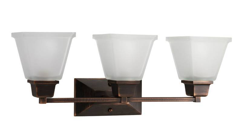 3-light Vanity Light Venetian Bronze Glass Bathroom