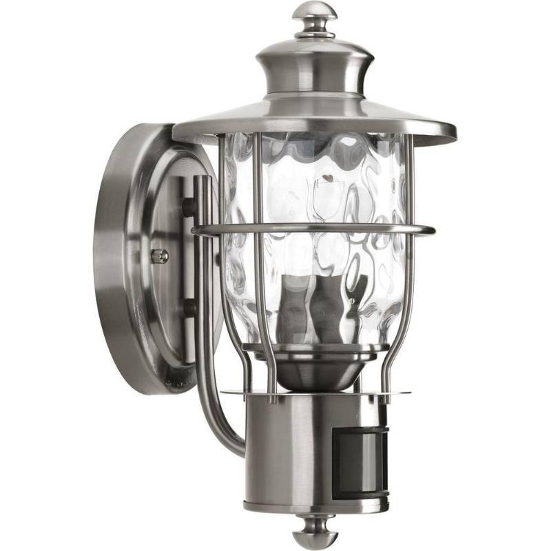 Vanity Lights Beacon : Progress Lighting Beacon Collection 1-Light Stainless Steel Motion Wall-Mount Lantern Home ...