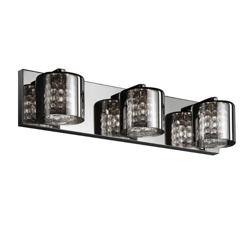 Vanity Light For Phone : Home Decorators Collection 3-Light Chrome Vanity Light with Tinted Glass Home Improvement ...