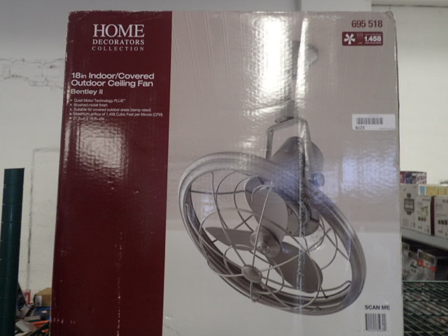 Home Decorators Collection Bentley Ii 18 In Oscillating Brushed Nickel Ceiling Fan Home