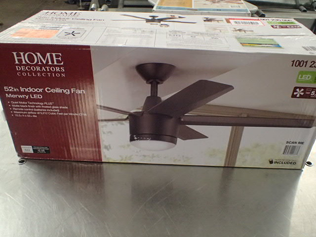 home decorators merwry 52 indoor led ceiling fan matte