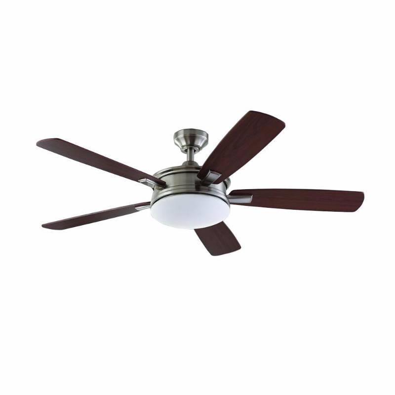 Home Decorators Collection Daylesford 52 In Led Brushed Nickel Ceiling Fan Home Improvement