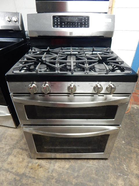 Kenmore Gas Range Double Oven Residential Stainless
