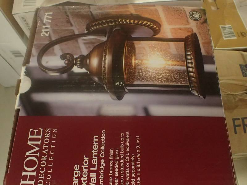 Home Decorators Collection Wall Mounted Cambridge Outdoor Essex Bronze Large Wall Lantern