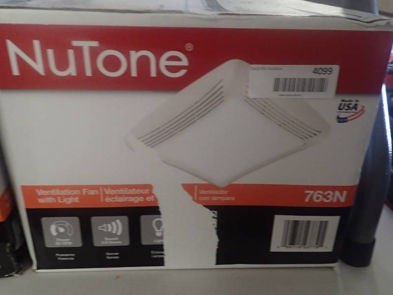 Nutone 50 cfm ceiling exhaust bath fan with light huge for Bathroom fan brands
