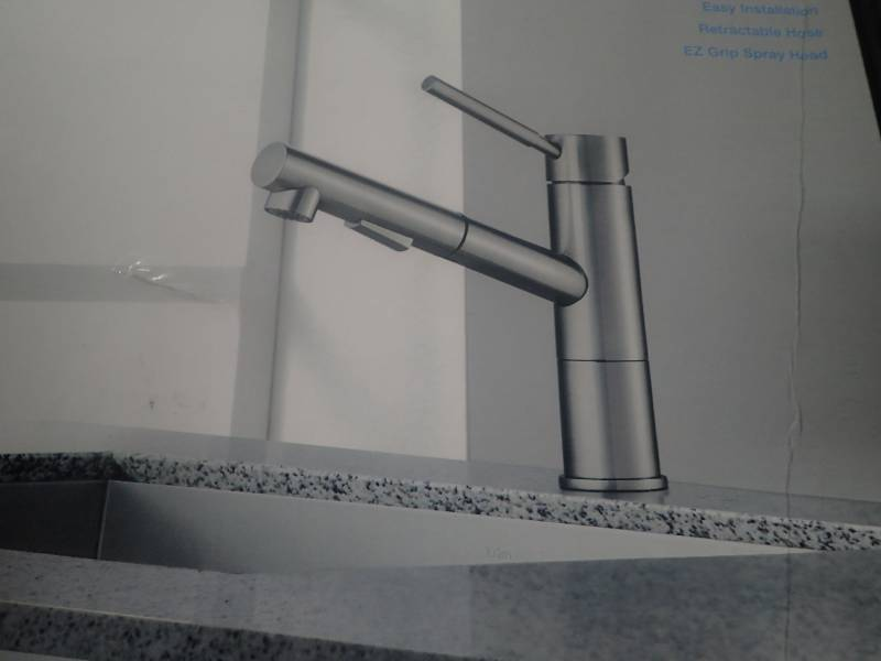 Geo Axis Single Handle Pull Out Sprayer Kitchen Faucet
