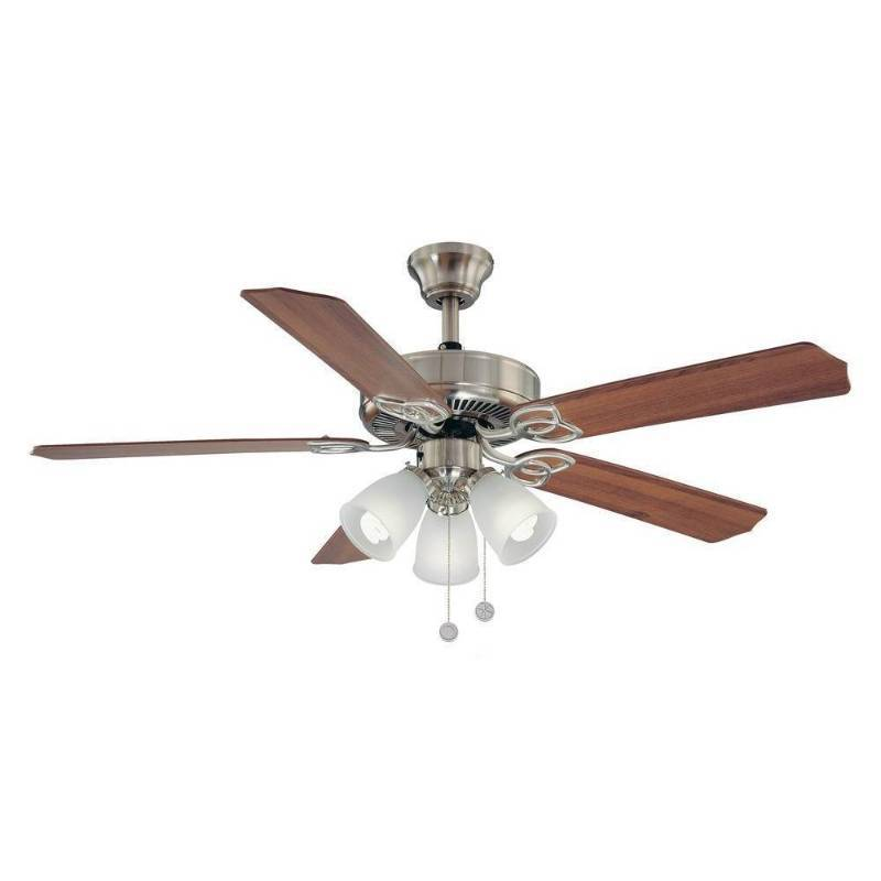Brookhurst 52 In Indoor Brushed Nickel Ceiling Fan Huge