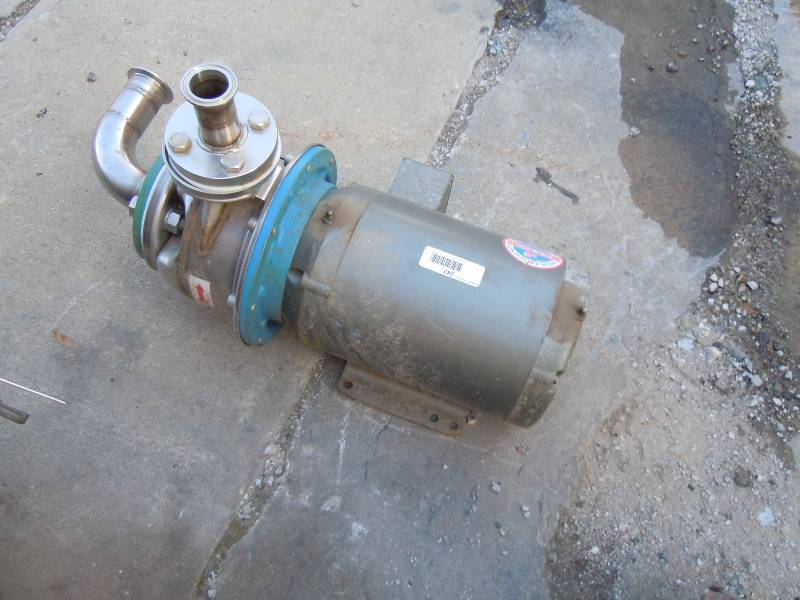 Stainless Steel Baldor Industrial Motor Pump Under The