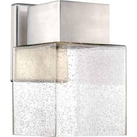 Home Decorators Collection Essex Brushed Nickel Outdoor Led Powered Wall Lantern Huge Name
