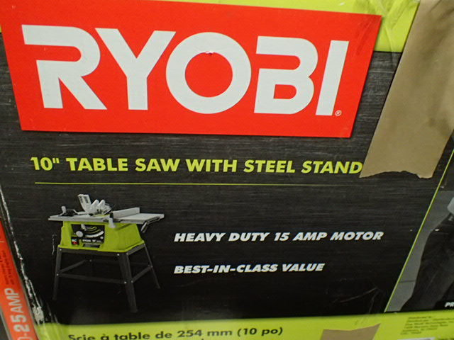 Ryobi 15 Amp 10 In Table Saw Huge Name Brand Hardware And Tool Sale 2 Equip Bid