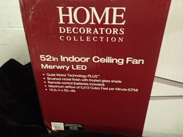 Home decorators merwry 52 indoor led ceiling fan for Home decorators merwry