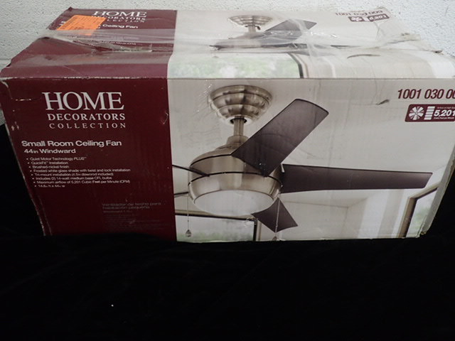 Home decorators 44 windward brushed nickel ceiling fan Home decorators windward iv