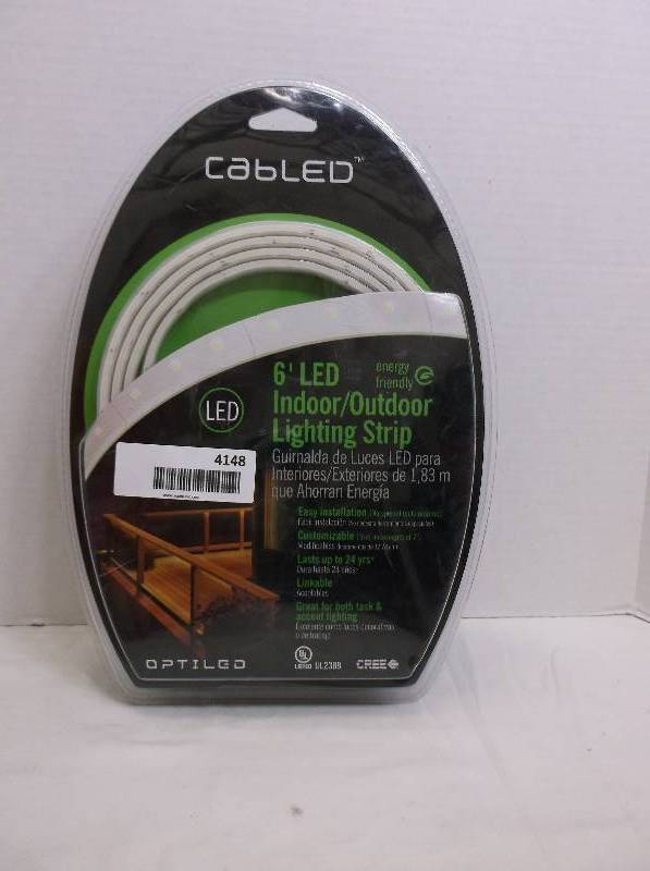 Cree Cabled Optiled 6 Ft Led Indoor Outdoor Strip Light White Cab 6fkithdww And Security Lighting Equip Bid