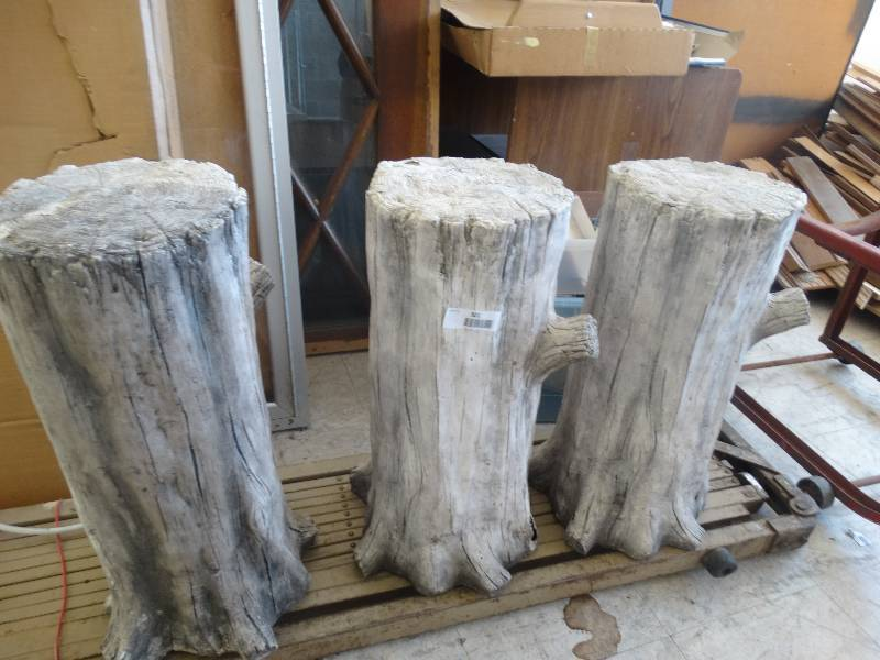 3 fake log yard decor wichita home improvement name for Artificial logs for decoration