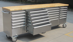 NEW 8 FT 24 DRAWER STAINLESS TOOL BENCH HTC9624W