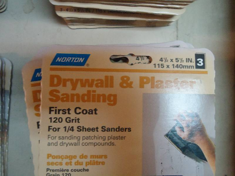 Drywall Time Cards : Norton drywall and plaster sanding sheets complete