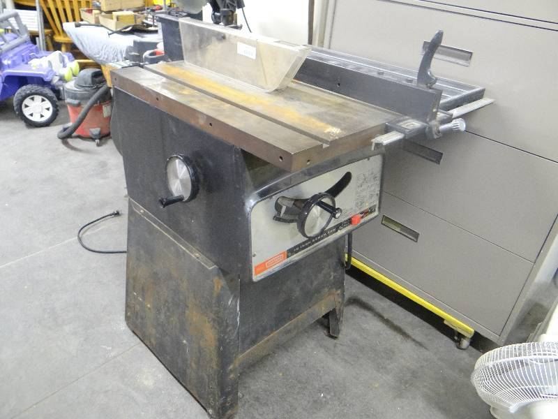 Big Craftsman Table Saw Midtown Liquidation Auction Equip Bid